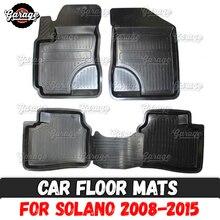 Étui de tapis de sol de voiture   Pour Lifan Solano 2008-2015 1 ensemble/4 pièces ou 2 pièces, accessoires pour la protection des tapis, décoration de style