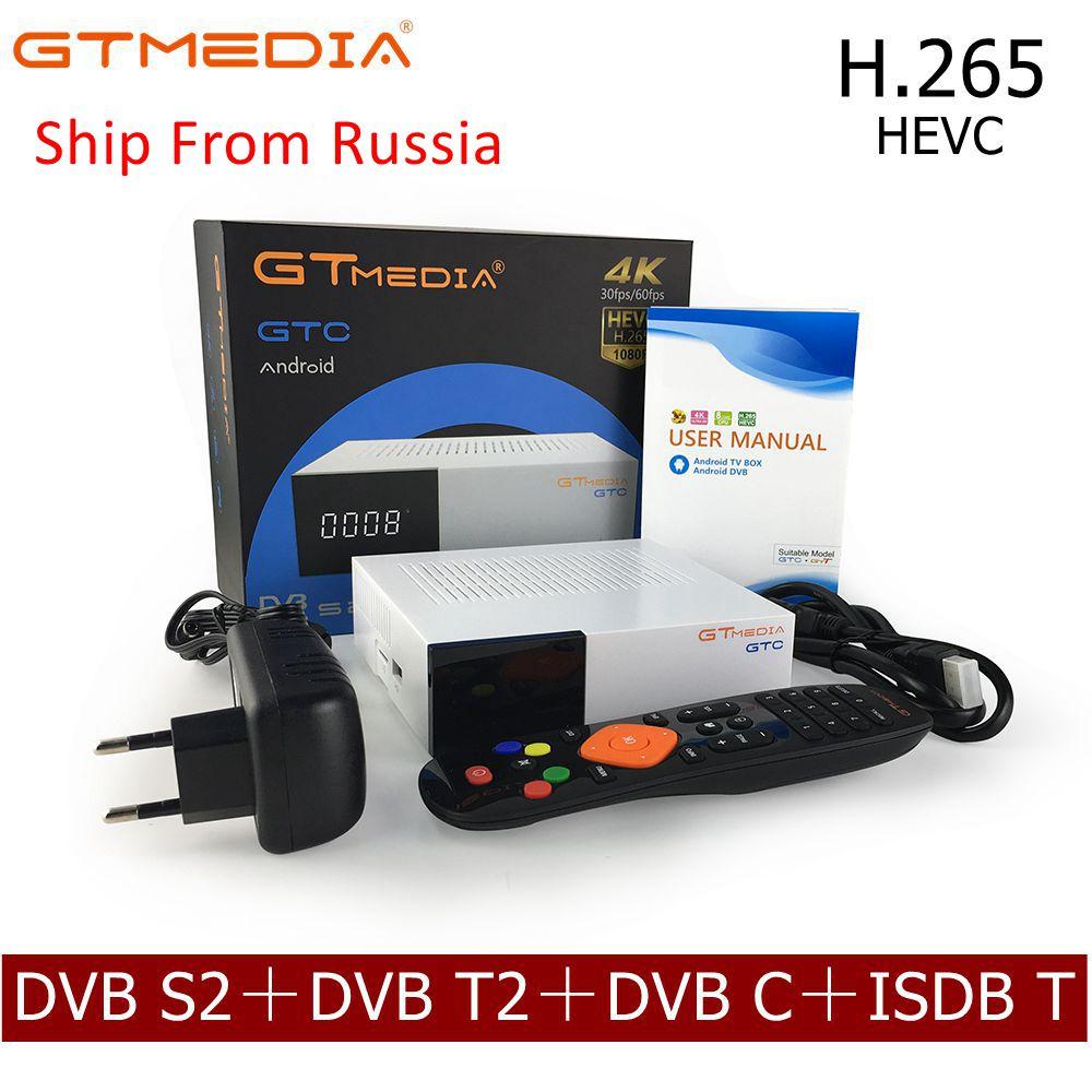 [Genuine] GTMedia GTC Decodificador DVB-S2 DVB-C DVB-T2 ISDB-T S905D Android 6.0 CAIXA de TV Amlogic 2GB RAM 16GB ROM Wifi 4.0 Receptor Topo