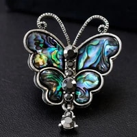 donia jewelry kawaii butterfly brooch rhinestone natural shell costume accessories ladies brooch turban pin gift