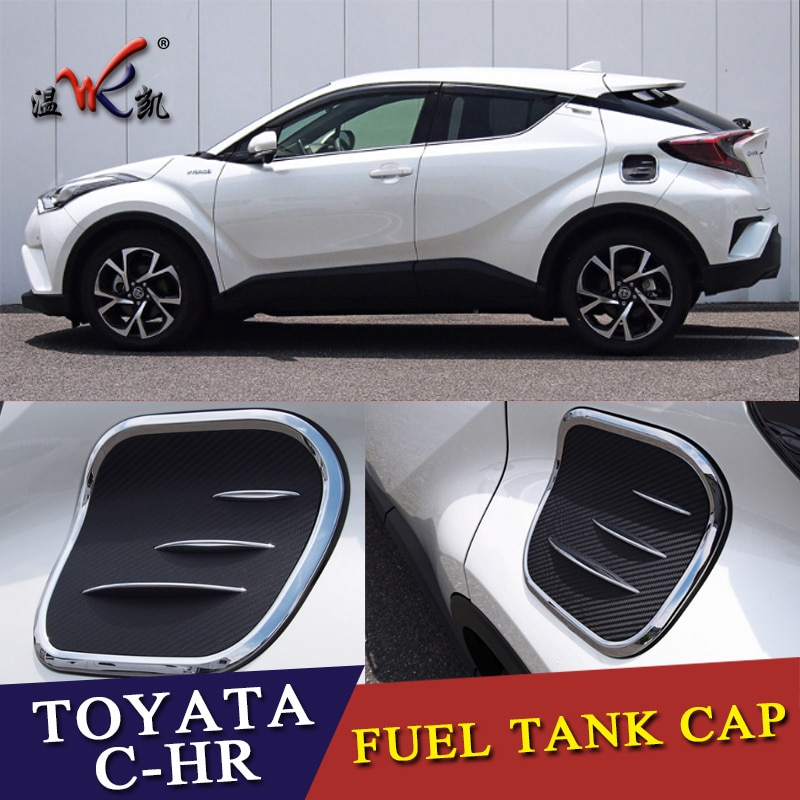 ABS cromado 1 Uds. Tapa de tanque de combustible de aceite Exterior para Toyota C-HR CHR 2016-2018 estilo de coche