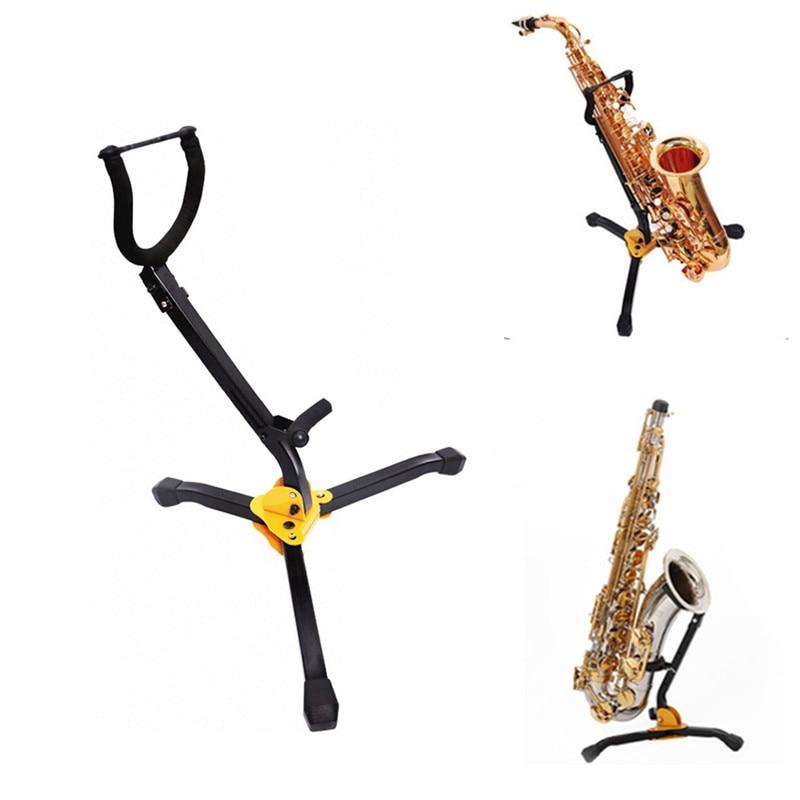 Soporte plegable para saxofón Tenor Alto saxofón pie de Metal soporte para trípode accesorios para instrumentos de viento de madera