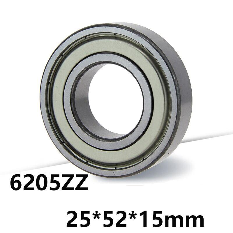 2 pçs/lote 6205ZZ Deep Groove Ball Bearing 6205-ZZ 6205ZZ 25*52*15mm 25*52*15 material De Aço do Rolamento de alta Qualidade