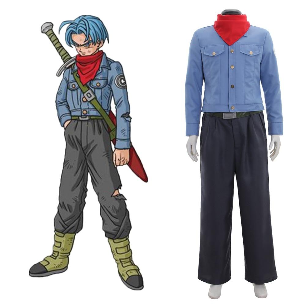 Anime Dragonball Dragon Ball Z Super Future Torankusu bañadores Cosplay traje adulto hombres traje de Halloween hecho a medida
