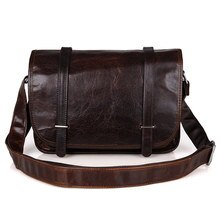 Sacs à bandoulière en cuir véritable pour hommes Vintage décontracté voyage Theftproof grand Ipad téléphone sac à bandoulière Messenger sacs de marque masculine