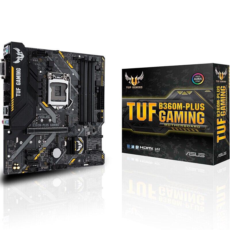 Novo para asus tuf B360M-PLUS gaming placa-mãe b360 soquete lga 1151 i7 i5 i3 ddr4 pci-e sata usb 3.0 suporta i7 8700 k i5 8400
