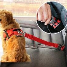 Cinturón de seguridad de asiento de coche ajustable para perro, asiento para cachorros de nailon para mascotas, arnés de correa de plomo, cinturón de seguridad para vehículo, 3 colores, 1 uds, triangulación de envío 30