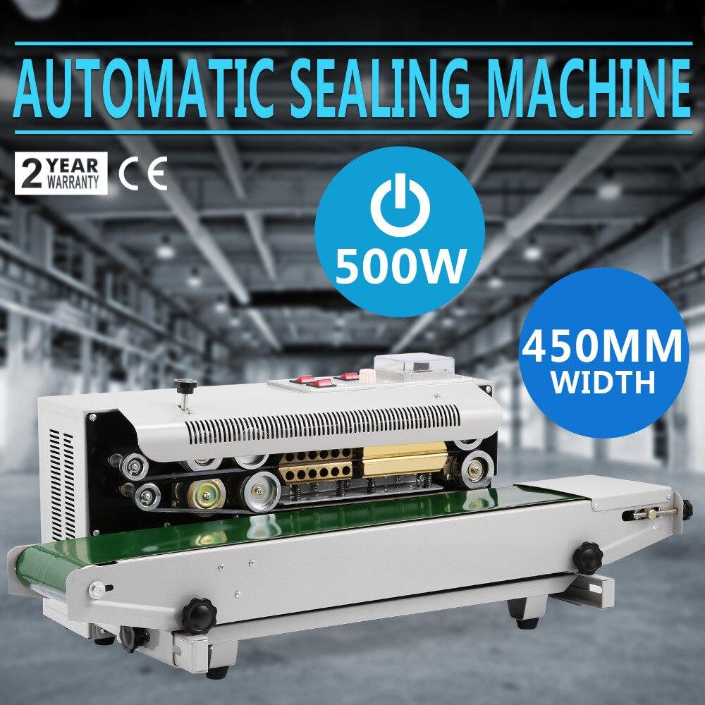 Plastic Bag Sealing Machine Semi Automatic Horizontal continous band with vacuum device