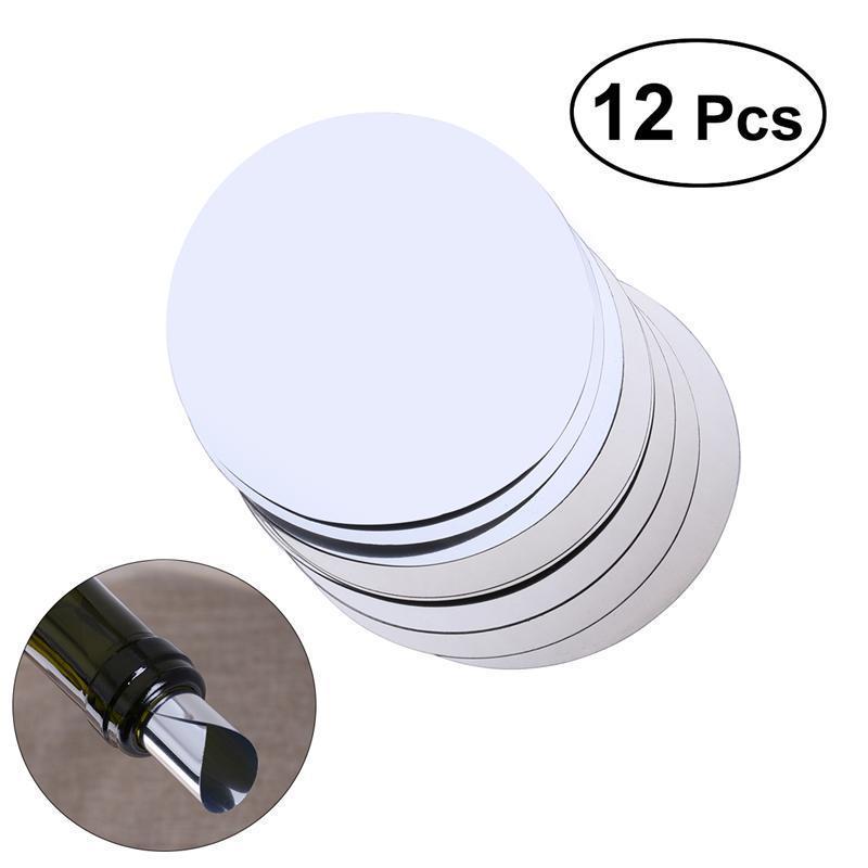 12 шт. алюминиевая фольга дисковый держатель для вина гибкий стоп выливания