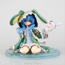 2018 nouveau Yoshino anime Hatsune Miku 15 cm pvc figure daction vert chapeau lapin assis quatre shito est à collectionner ermite modèle jouet