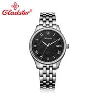 Gladster יוקרה יפן MIYOTA2315 עסקי גברים שעון אופנה מקרית קוורץ שעוני יד ספיר קריסטל נירוסטה איש שעון