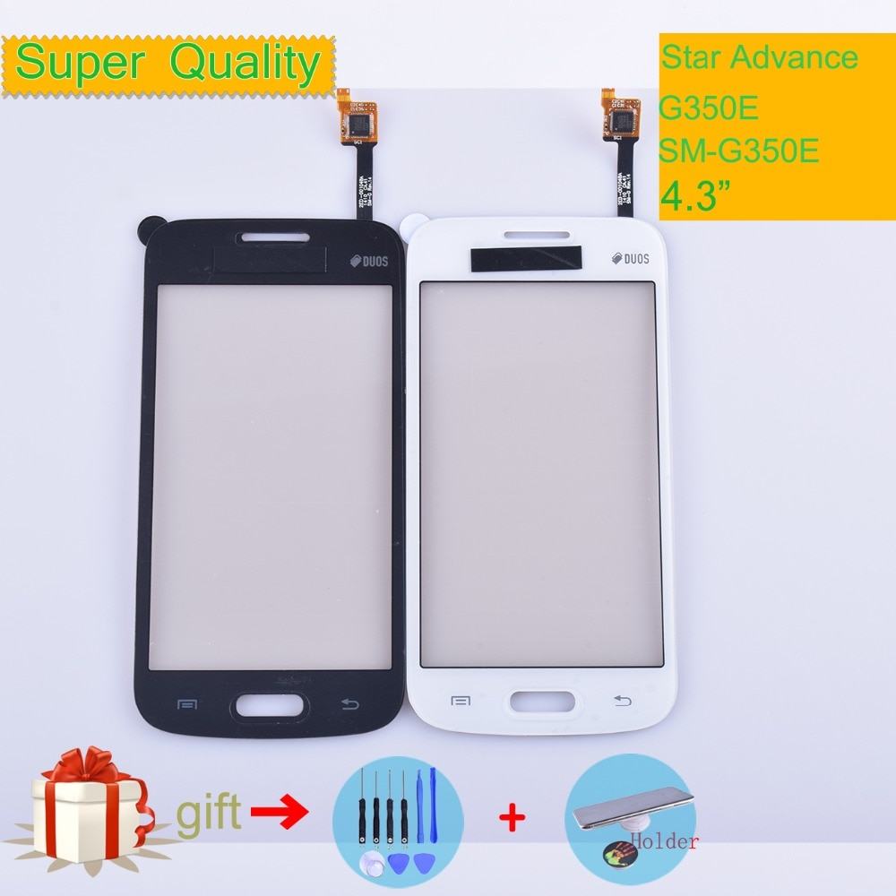 for samsung galaxy core 2 g355 lcd touch screen sm g355h g355h duos digitizer sensor glass display touch panel white black mqnlq G350E For Samsung Galaxy Star Advance G350E SM-G350E Touch Screen Panel Sensor Digitizer Glass Touchscreen NO LCD black white