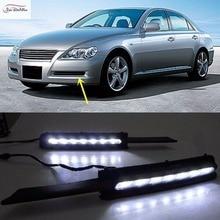 JanDeNing 2PCS LED Daytime Running Light Retrofit Car LED DRL Daytime light Kit For Toyota REIZ Mark X 2005-2009