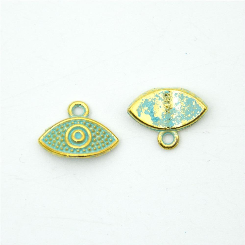 20 units mykonos findings Evil Eye charm mykonos charms finding jewelry finding suppliers D-3-282