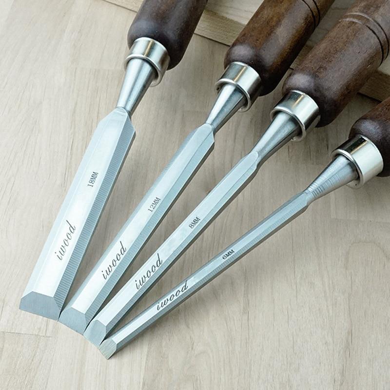 Cincel plano de acero de aleación de vanadio cromado de alta calidad 6mm 8mm 12mm 18mm