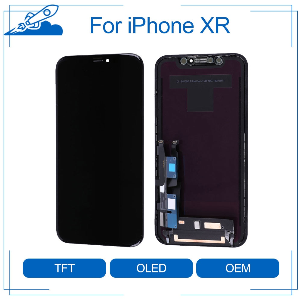 Elekworld كامل الجبهة الجمعية آيفون XR تماما OEM أفضل أوراي شاشة LCD تعمل باللمس محول الأرقام الجمعية استبدال