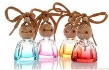 Spot Großhandel 10 ML Smiley Auto Parfüm Anhänger Leere Flasche Innen Auto Montiert Duftöl Aroma Parfüm Flasche #2122