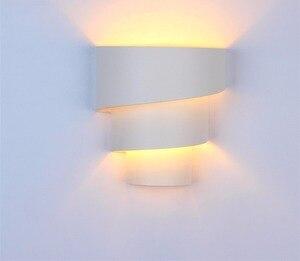 Modern White E27 iron Wall Lamp AC85-265V Wall Mounted Sconce Lights lamp Decorative Living Room Bedroom Corridor Wall Lights