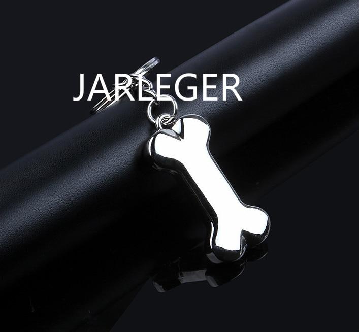 Fashion Creative Auto Metal Personality dog bones car keychain key ring key chain  For Audi Ferrari Lexus Peugeot logo