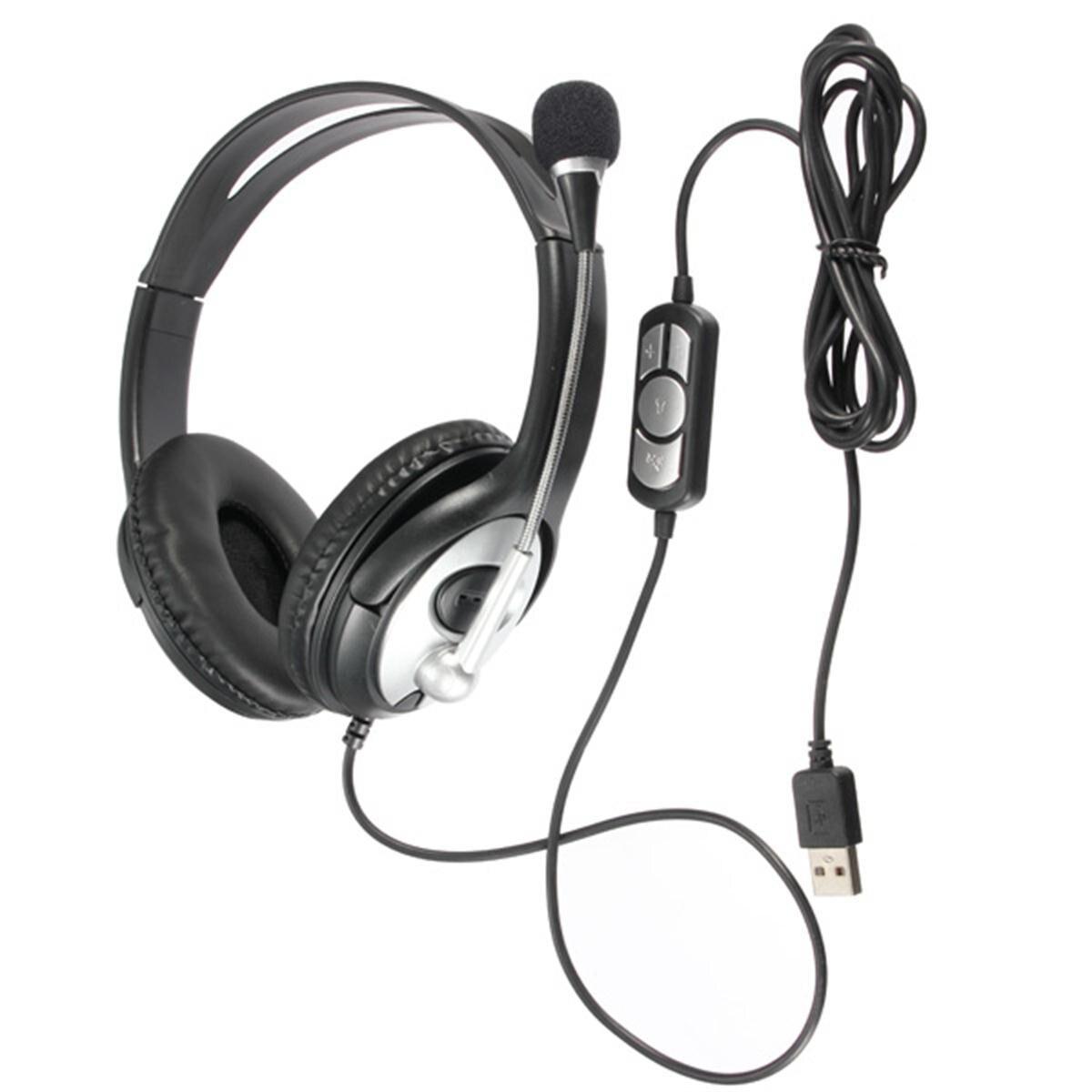 Fone de Ouvido Fone de Ouvido com Microfone para Computador Prático Estéreo Gaming Headset com Microfone para Computador Portátil Notebook Música Presente Usb
