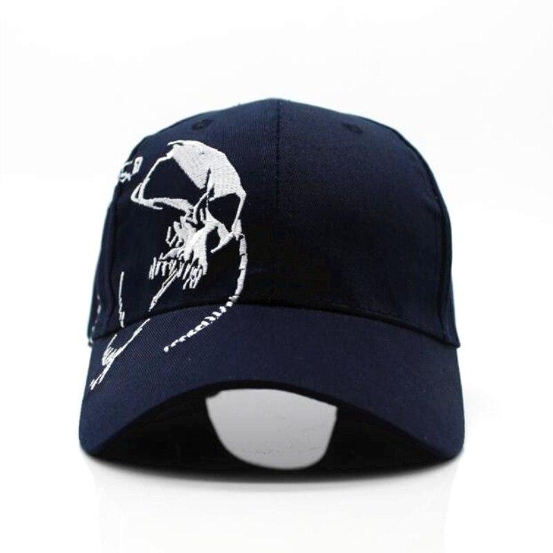 Мужские и женские бейсболки Seioum, модные спортивные бейсболки унисекс из 100% хлопка с вышивкой в виде черепа