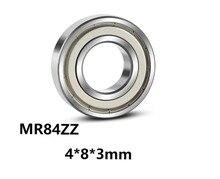5pcs/lot MR84ZZ Deep Groove Ball Miniature Mini Bearings MR84ZZ MR84-ZZ 4*8*3mm 4*8*3 High Quality Bearing Steel