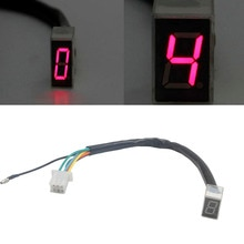 Universal LED Digital Gear Indicator Motorcycle Display Shift Lever Sensors
