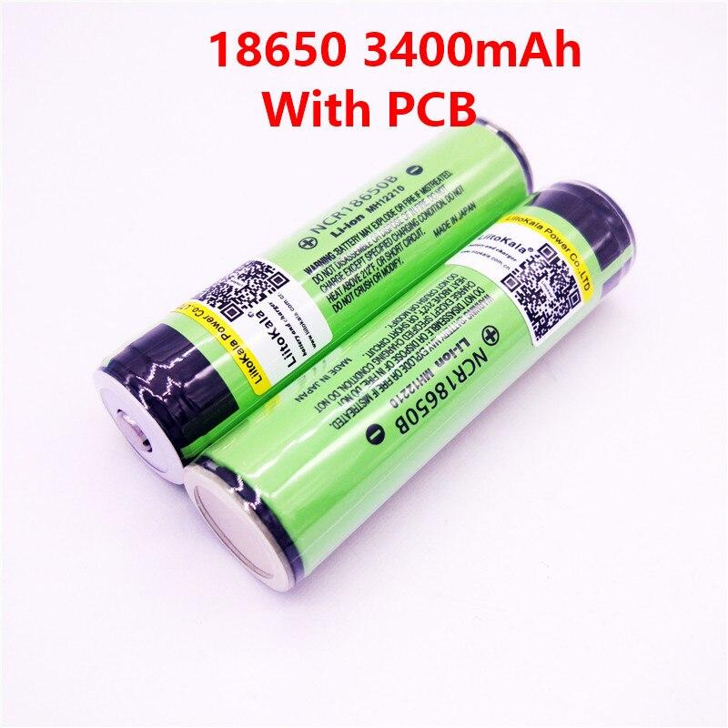 LiitoKala 2017 Original 18650 3400 mah da bateria 3.7 v PCB bateria Protegido Para 18650B Rechargebale li-ion 18650 3400 mah