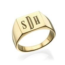 Anillo personalizado para hombre, anillo personalizado con monograma, anillo personalizado para hombre, nombre, anillo inicial, regalo, joyería para él, cumpleaños, regalo de Navidad