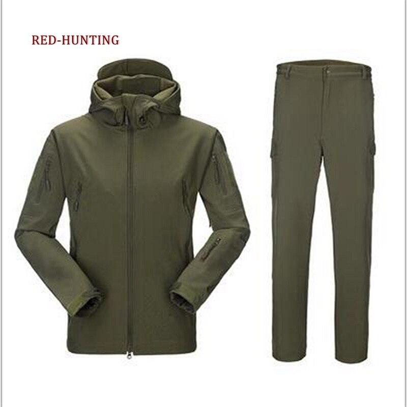 Камуфляжная охотничья одежда из кожи акулы, мягкая оболочка, Lurkers Tad V 4,0, уличная Тактическая Военная куртка + униформа, штаны, костюмы