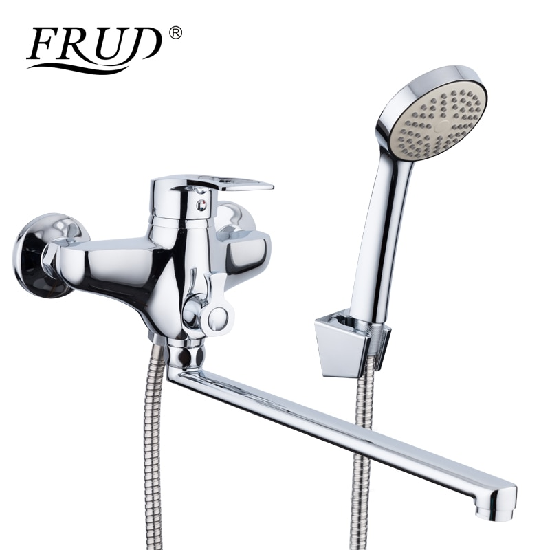 Dolandırıcılık yeni varış 1 takım çinko alaşım çıkış borusu banyo duş musluk musluk bataryası ile el püskürtücü duş başlığı banyo muslukları R22066