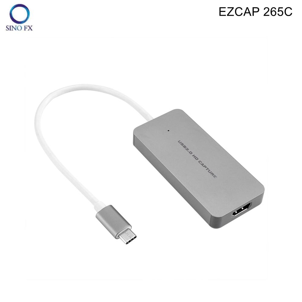 EZCAP 265 265C HDMI to Type-C USB3.0 1080P 60fps Video Capture Live Streaming Broadcast for Macbook Mac Windows Win10 enlarge