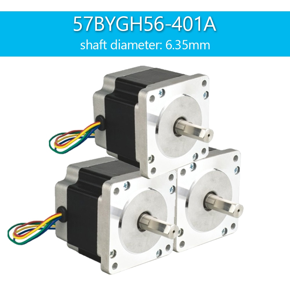 SAVEBASE CNC Router Lathe Nema 23 175 Oz-In Stepper Motor 2 Phase 2.8A 1.8 Degree 57x56mm