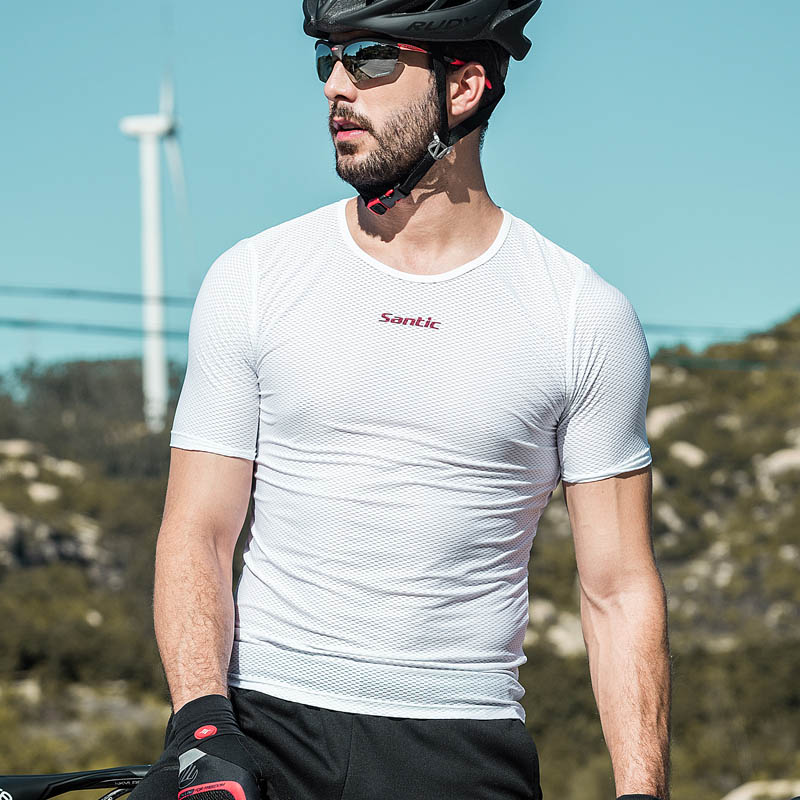 Santic Men Cycling Base Layer Summer Jersey Cycling Tight  MTB Road Bike Bicycle Running Jersey Sport M8C06022