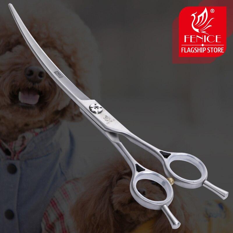 Animais de Estimação Fenice Tesoura Curvada Polegada Cães Gatos Grooming Shears Japão 440c 6.75