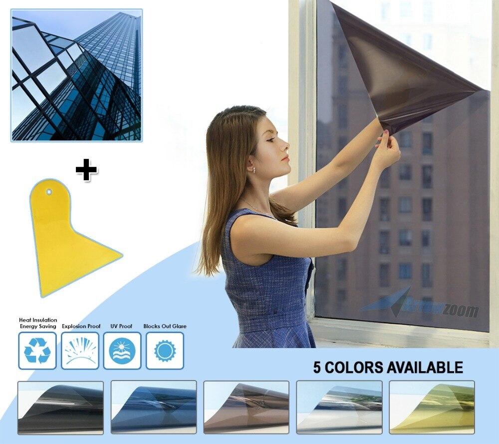 Arrowzoom Anti-UV, tinte de ventanilla para coche, Control de calor, reducción de brillo, protección Solar, película de bloqueo