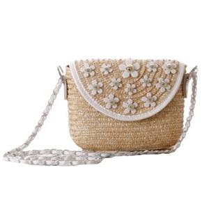 Women Handbag Summer Straw Bags Female Beach Shoulder Bag Lady Flower Fashion Weave Messenger Bag Travel Crossbody Bag SS3119