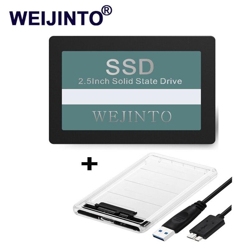 Disco duro interno Sata-3 III de Weijinto SSD, 60GB, 120GB, 240GB, SATA3 III 2,5, 64GB, 128GB, 256GB y SSD, carcasa adaptadora Sata a USB 3,0