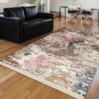 Else Pink Blue Cream Brown Turkish Vintage Abstract Aging 3d Print Anti Slip Kilim Washable Decorative Area Rug Bohemian Carpet