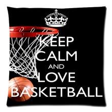 2018 Personalized Pillowcase Love Basketball Print Pillow Cases Polyester Sofa Car Cushion Cover Home Decor 45x45cm