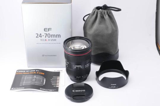 عدسة زوم قياسية Canon EF 24-70 مللي متر f/2.8L II USM ، لـ 1DX 5DS 5DSR 5D IV 5D III 6D II 7D II 80D 800D 700D