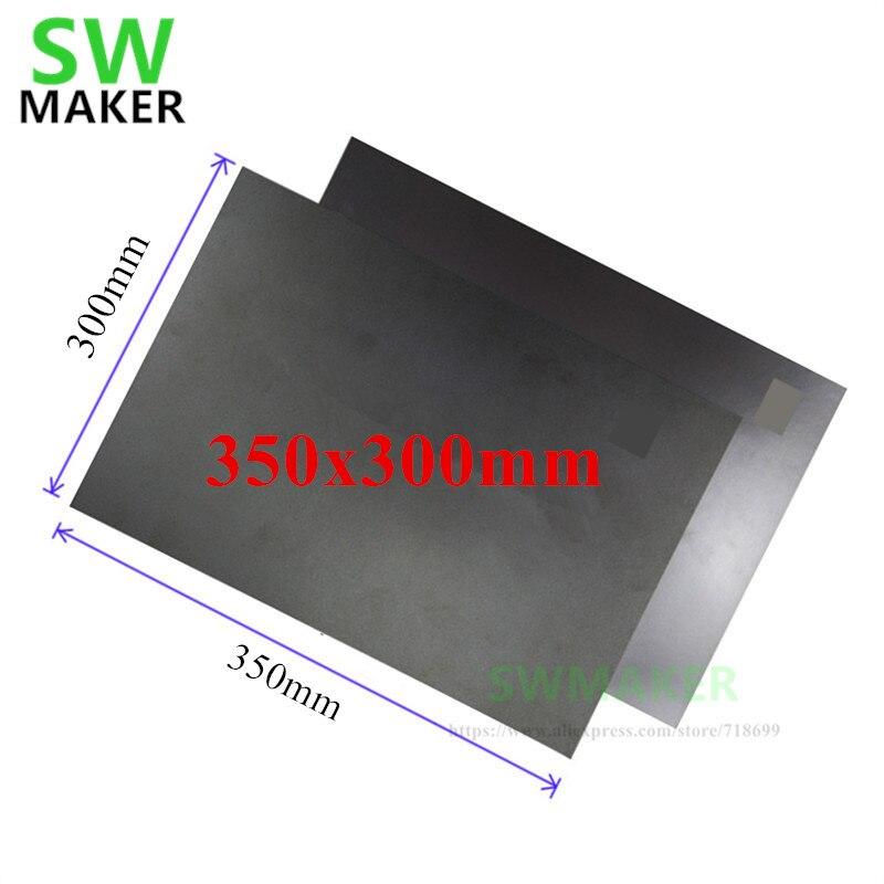 Nuevo juego de cinta flexible de cama con impresión magnética de 350x300mm para la impresora 3D Tornado Flyingbear DIY para PLA impresión