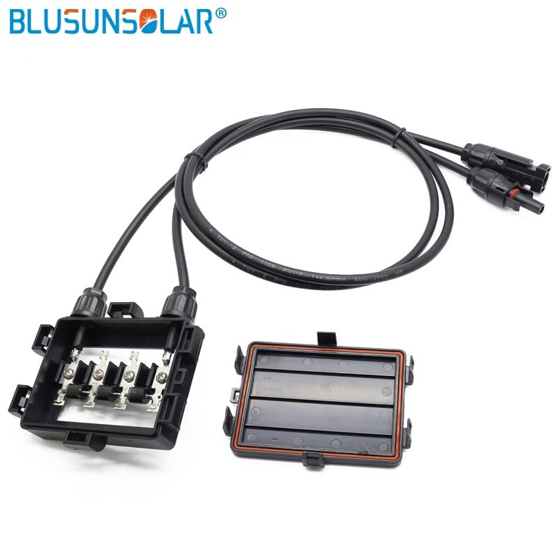 50 قطعة/الوحدة حار بيع 4 القضبان الشمسية PV تقاطع مربع للماء IP65 الموحد مربع مع 4.0mm2 كابل ل الشمسية لوحة XH0196