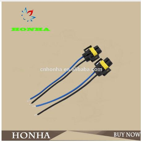 H11/h8/h9 cablagem chicote de fios soquete fio conector plug fio chicote