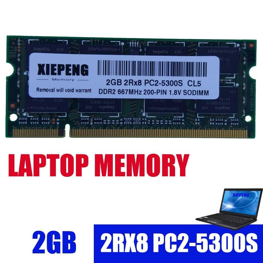 Ordinateur portable RAM 2 GO 2Rx8 PC2-5300S DDR2 4 go 667 MHz 2G pc2 5300 pour MacBook A1181 MB062 MB063 MB402 MB403 MD404 MB133 MB134 Cahier