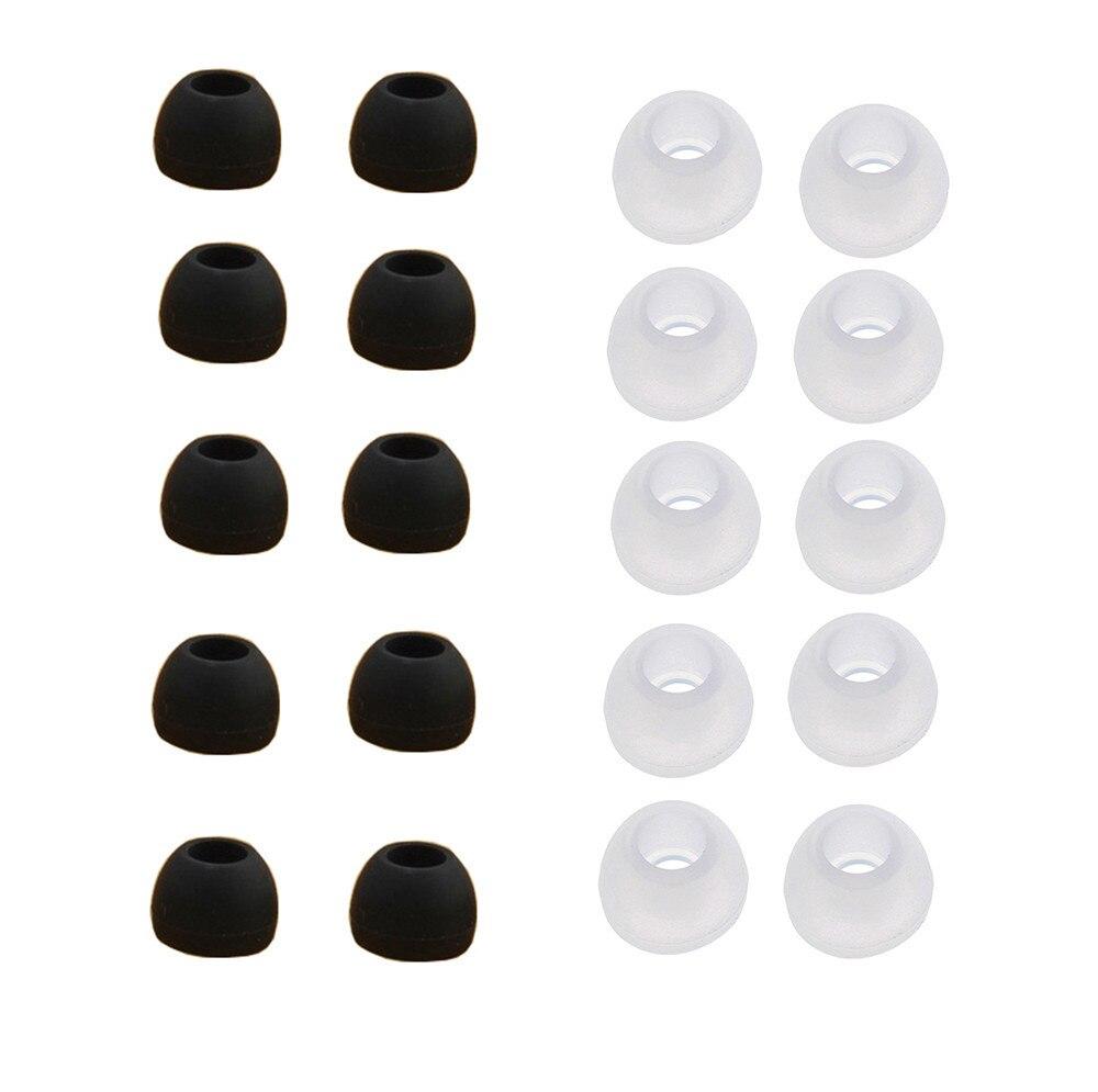Almohadillas de repuesto de silicona transparente, tamaño mediano, 10 pares, para Sony Phillips