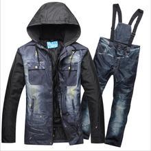 2019 hommes Ski costume hiver vêtements imperméable coupe-vent Ski Snowboard veste pantalon plein air Sport porter mâle Super chaud costume ensemble