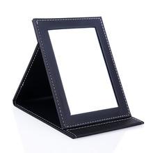 Make-up spiegel Desktop PU Gehobenen eitelkeit hd spiegel Klapp tragbare platz prinzessin hohe definition glas spiegel