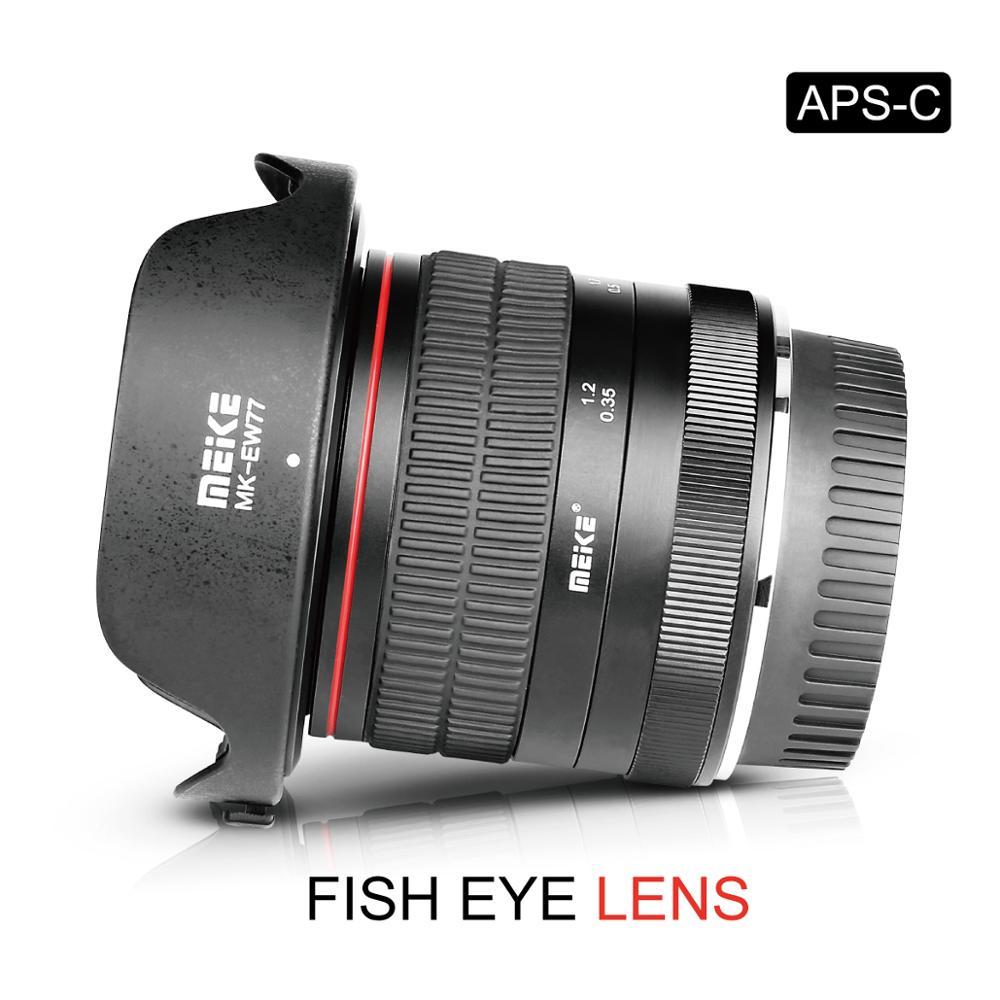 Meike 8 مللي متر f3.5 f/3.5 زاوية واسعة للعين السحرية عدسات لكاميرات كانون EF-mount كاميرا مع APS-C 6D 5D مارك IV 70D 200D 6D مارك II 1300D 200D