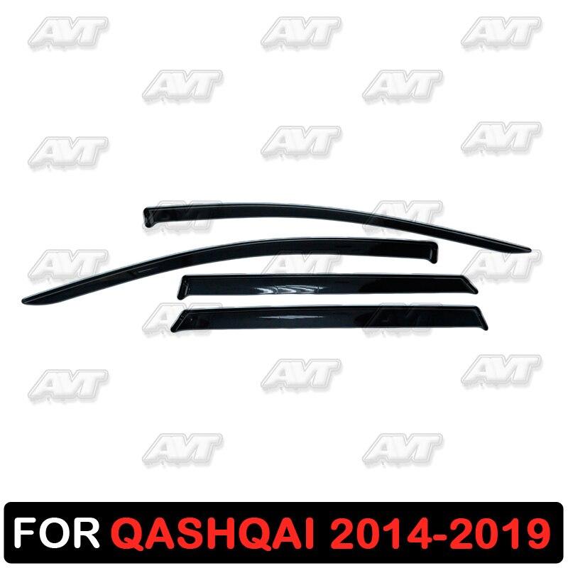 Window deflectors for Nissan Qashqai 2014-2019 1 set-4 pcs car styling wind decoration guard vent visor rain guards cover