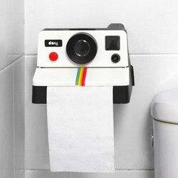 1 шт. креативные Ретро Полароид в форме камеры вдохновленные коробки для салфеток туалетный рулон бумажный держатель коробка для ванной комнаты декор